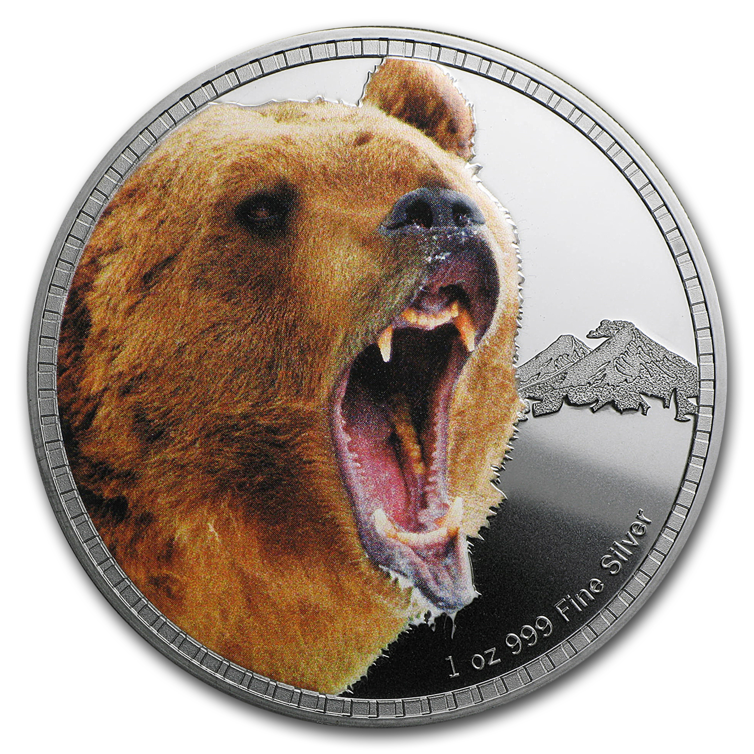 2016 Niue 1 oz Silver Kings of Continents Grizzly Bear Proof