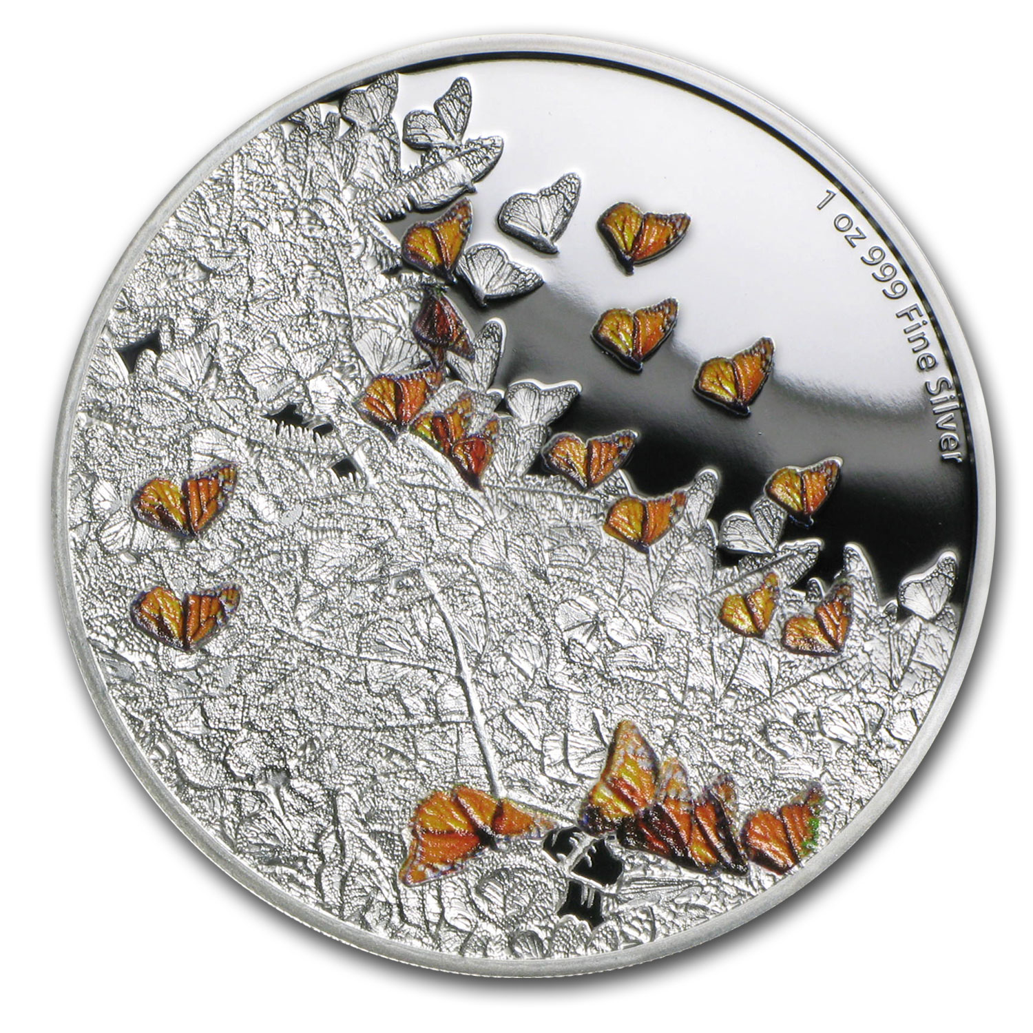 2016 Niue 1 oz Silver Great Migrations Monarch Butterfly Proof