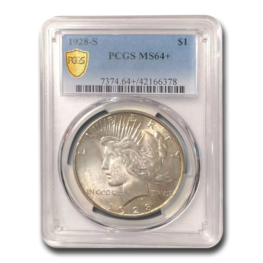 1928-S Peace Dollar MS-64+ PCGS