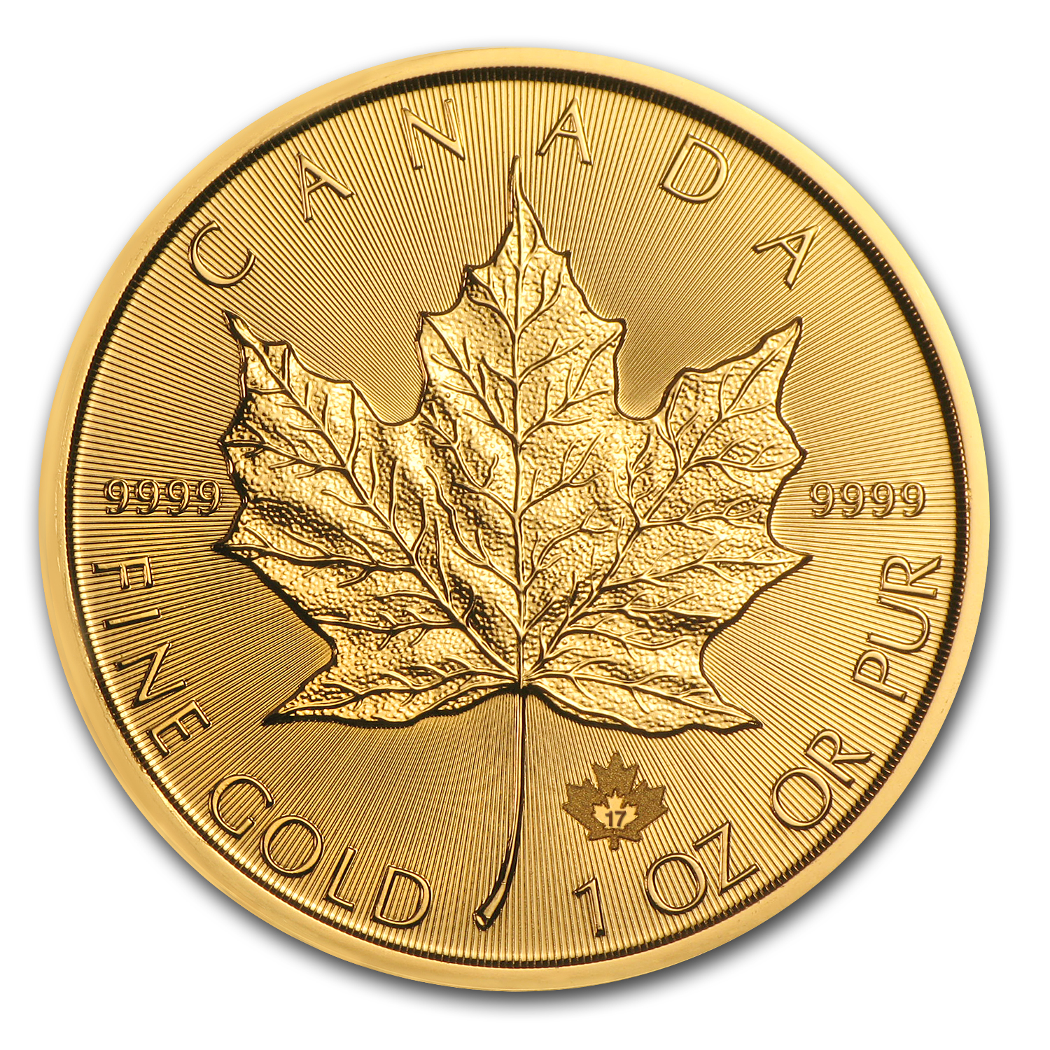 2017 Canada 1 oz Gold Maple Leaf BU