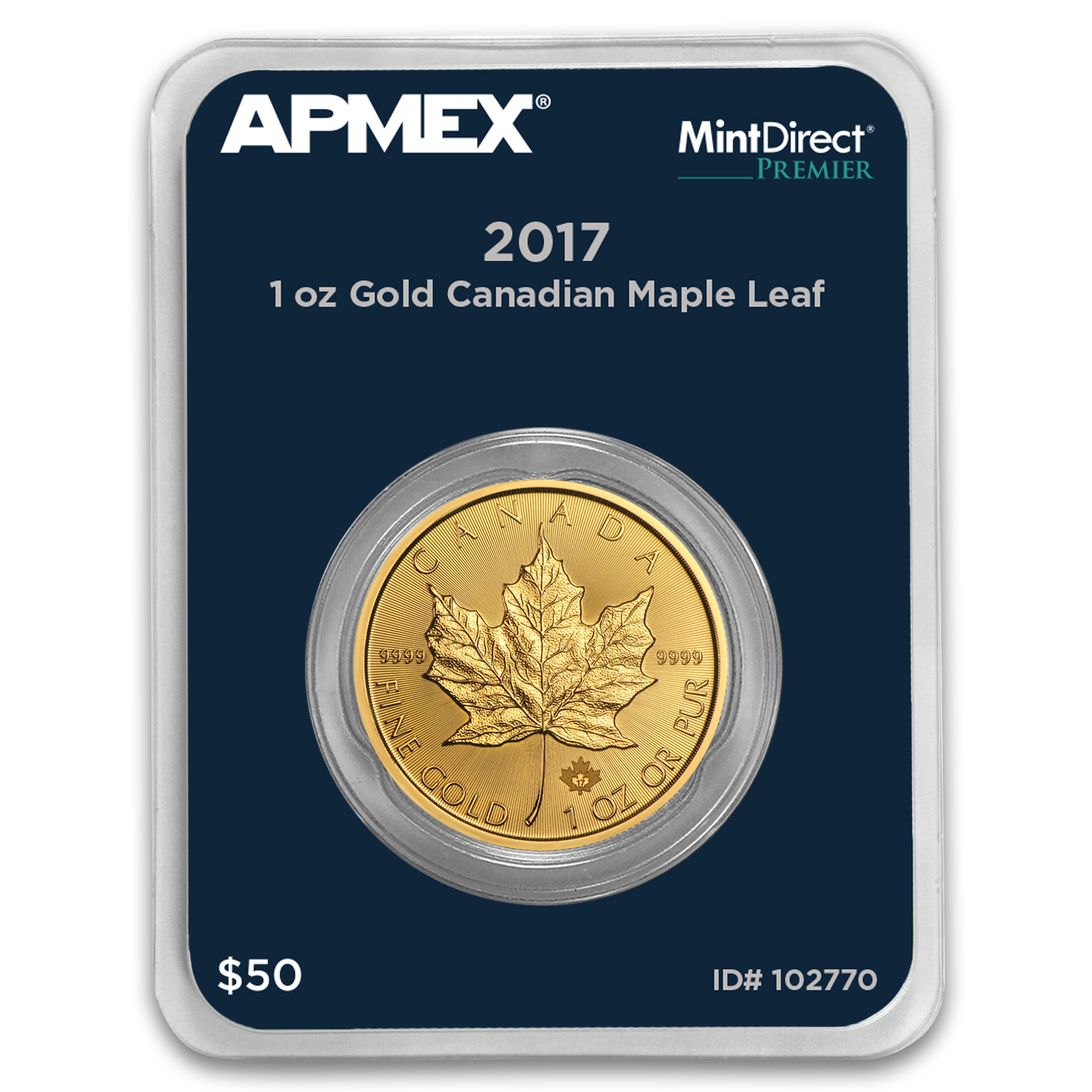 2017 Canada 1 oz Gold Maple Leaf (MintDirect® Premier Single)
