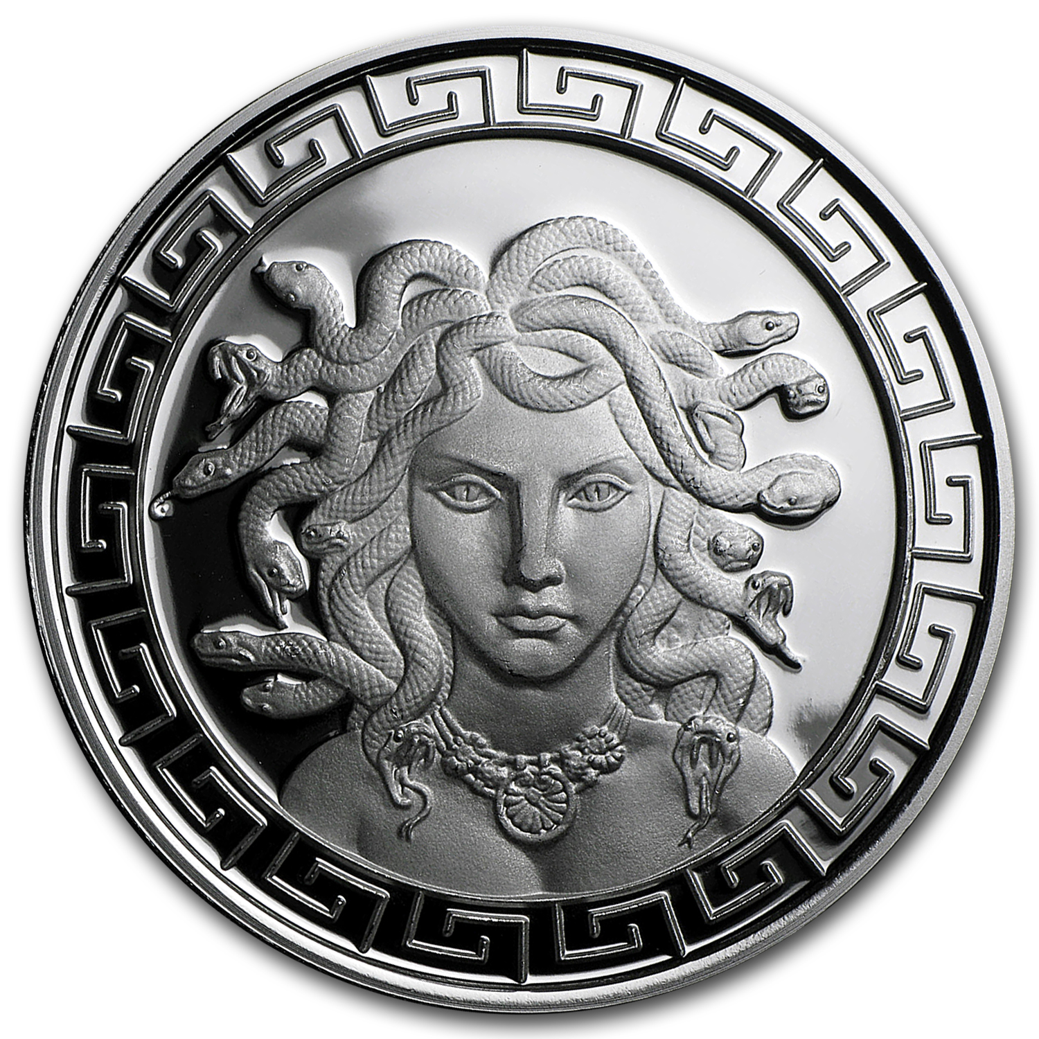 1 oz Silver Round - Classic Greek Medusa (Prooflike)