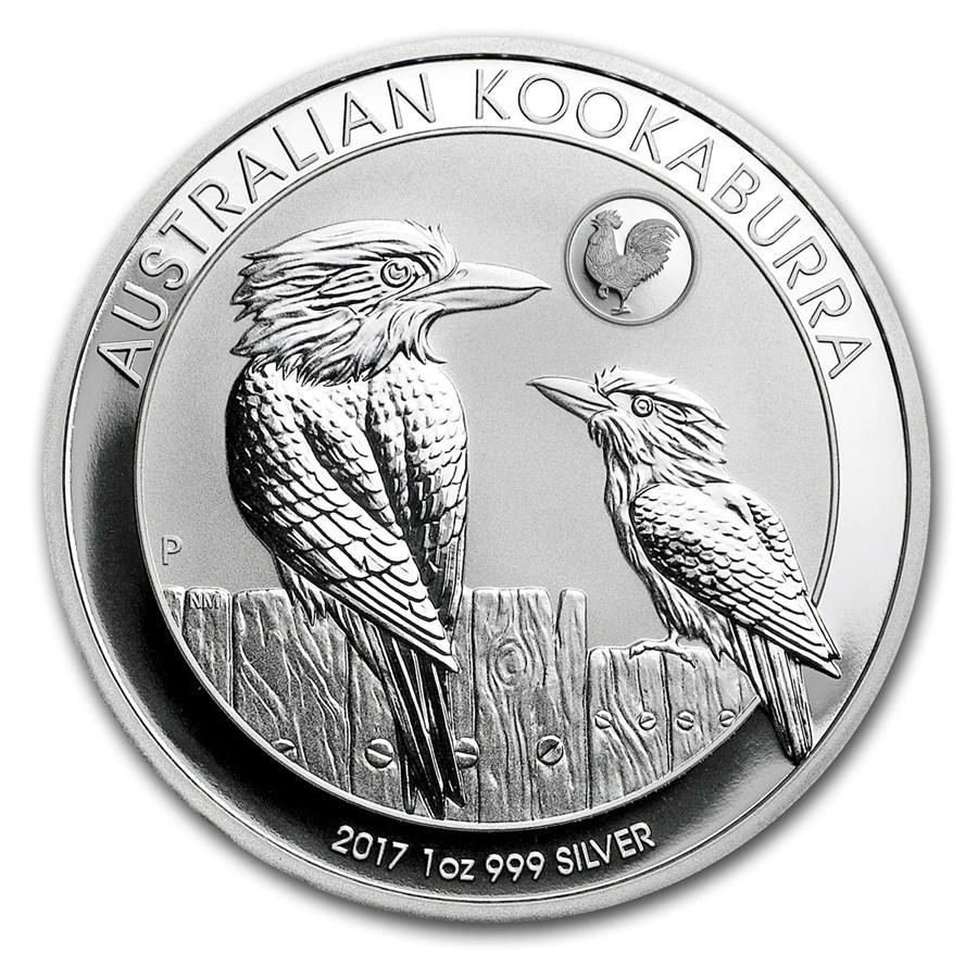 2017 Australia 1 Oz Silver Kookaburra Bu Rooster Privy