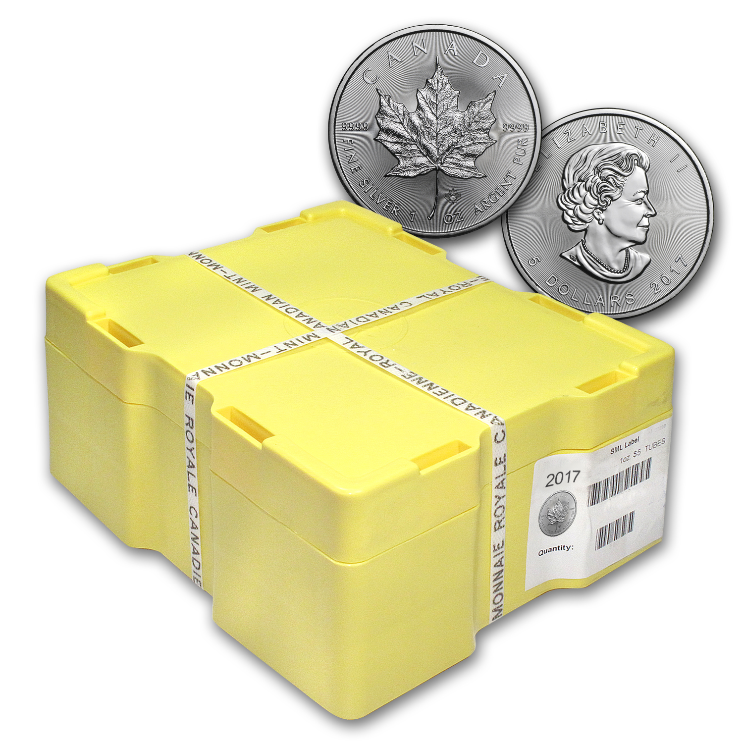 2017 Canada 500-Coin Silver Maple Leaf Monster Box (Sealed)