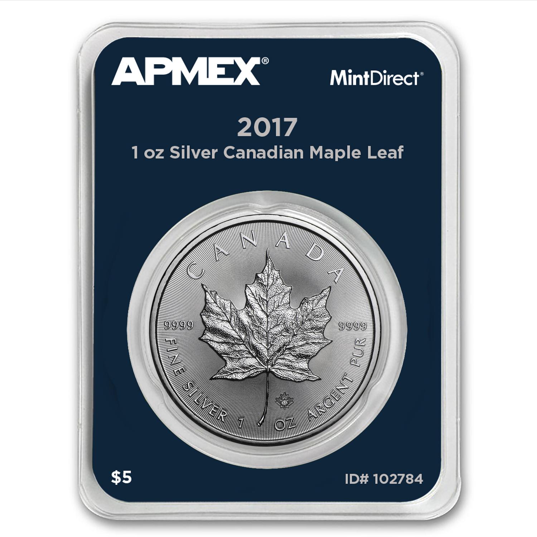 Buy 2017 Canada 1 Oz Silver Maple Leaf Mintdirect 174 Single