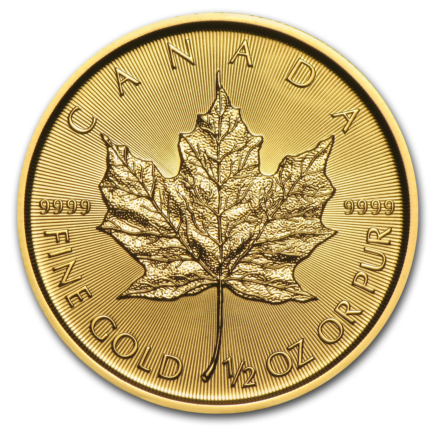 2017 Canada 1/2 oz Gold Maple Leaf BU