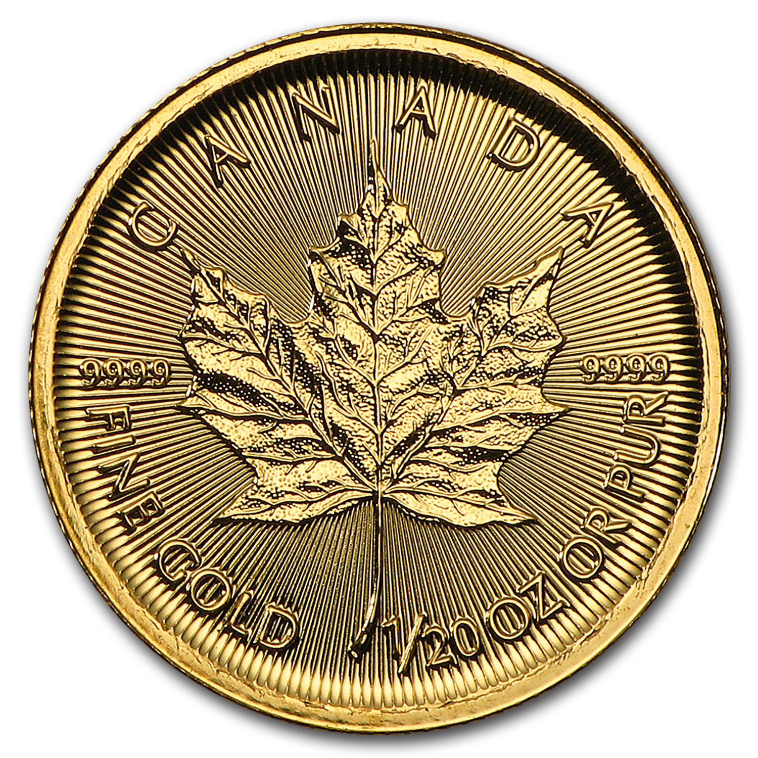 2017 Canada 1/20 oz Gold Maple Leaf BU