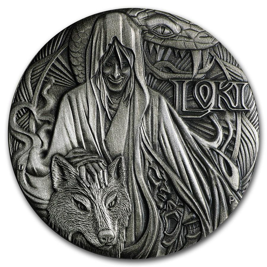 2016 Tuvalu 2 Oz Silver Norse Gods Loki Bu High Relief