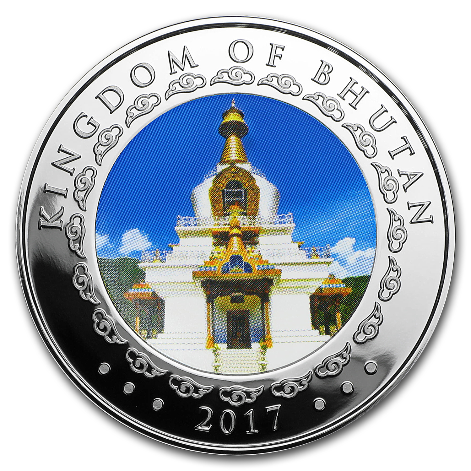 2017 Bhutan 1 oz Proof Silver Lunar Rooster (Ultra High Relief)