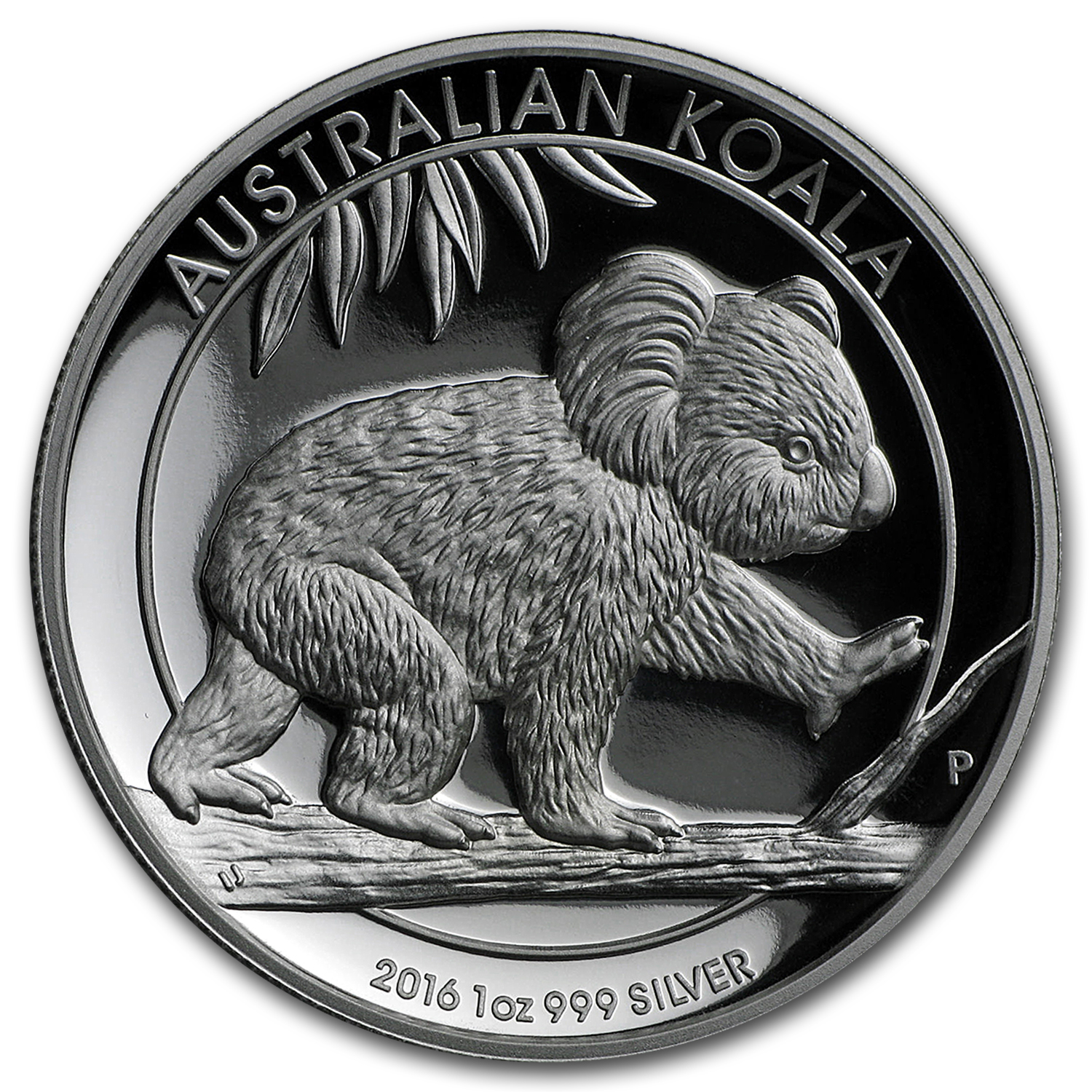 2016 Australia 1 oz Silver Koala Proof (High Relief, w/Box & COA)