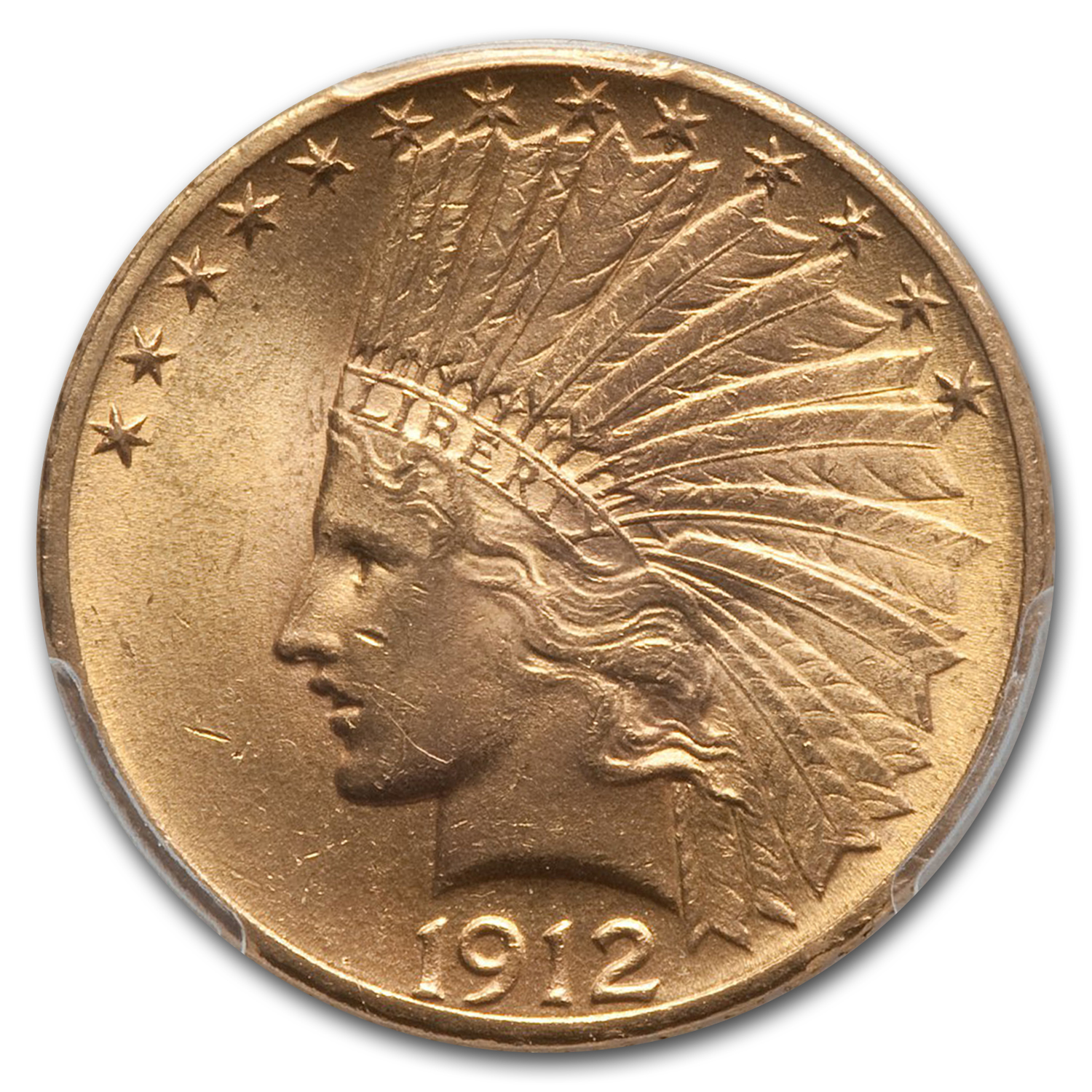 1912 $10 Indian Gold Eagle MS-64 PCGS