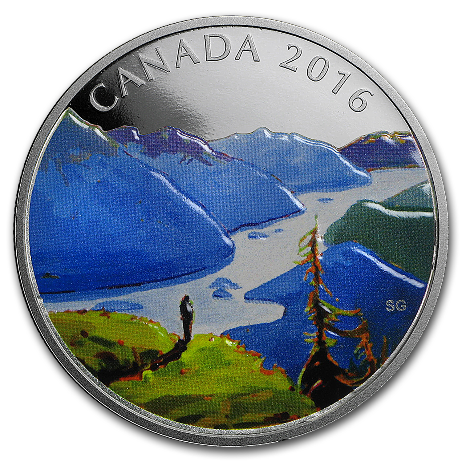 2016 Canada 1 oz Silver $20 Canadian Landscapes: Reaching The Top