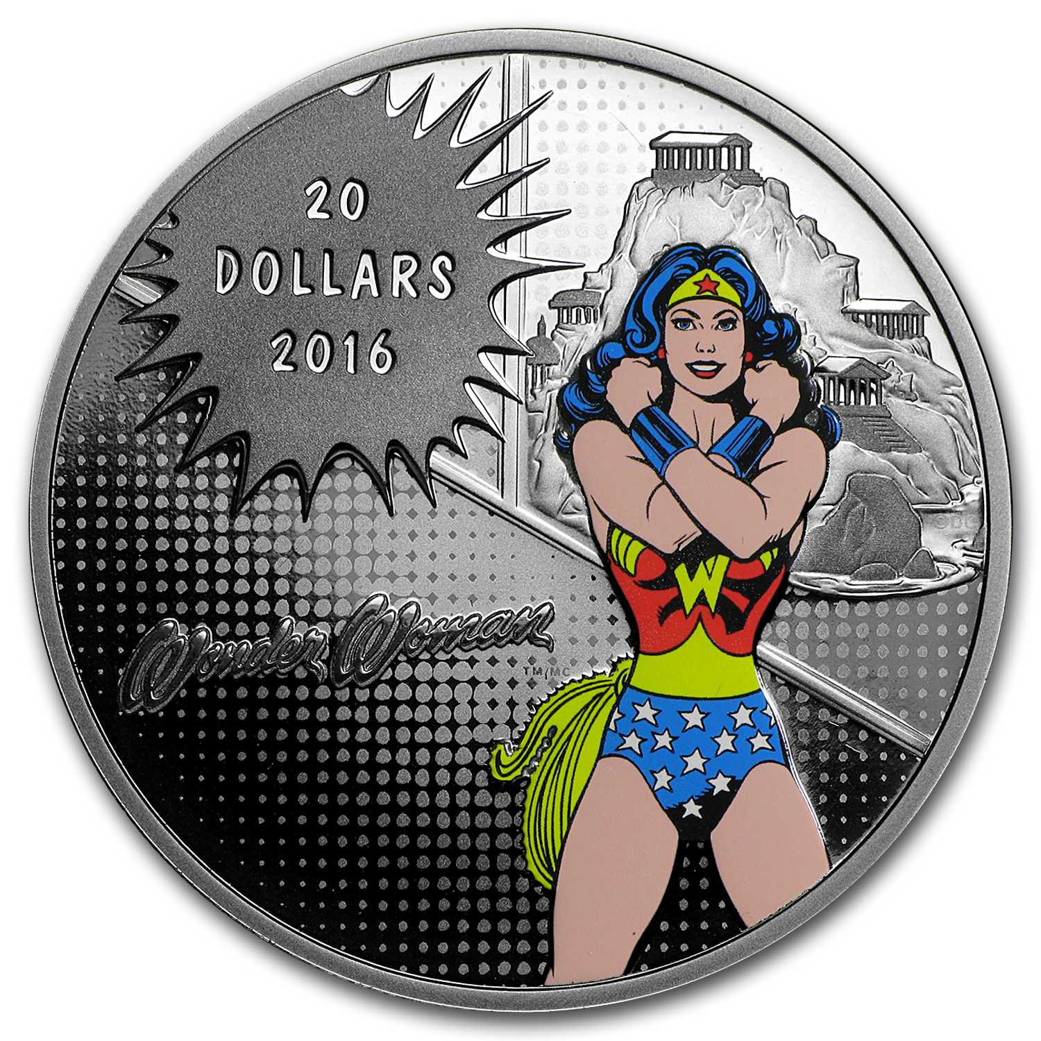 2016 Canada Proof 1 oz Silver $20 Comics Originals: Wonder Woman