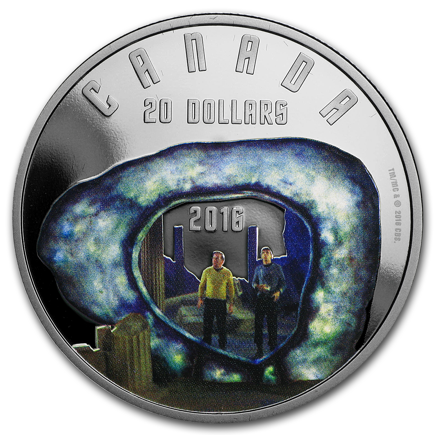 2016 Canada 1 oz Silver Proof $20 Star Trek: Edge of Forever