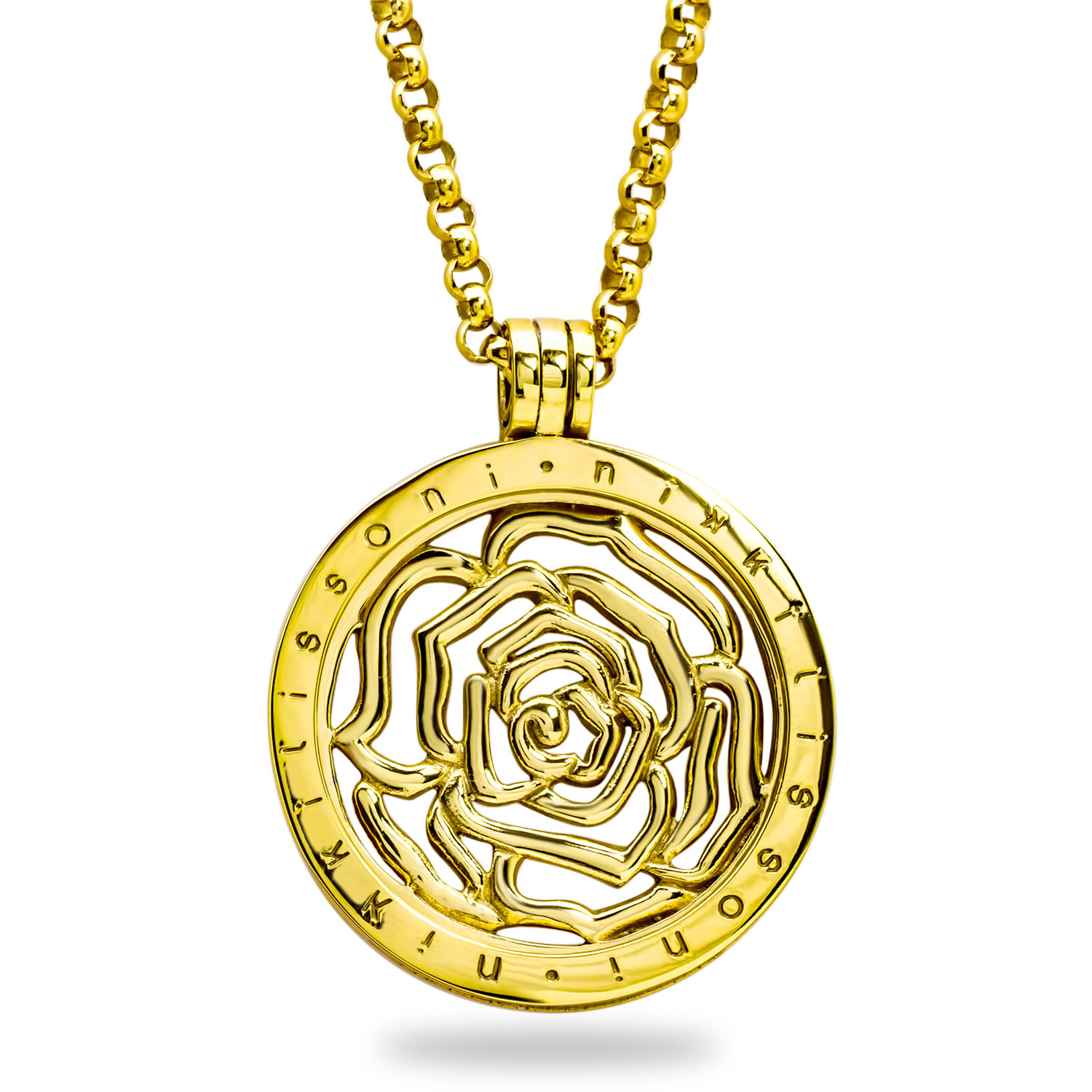 Nikki Lissoni 'Roses are Red' 33 mm Pendant w/Chain