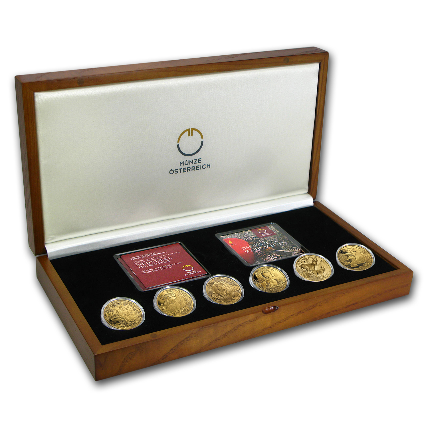 2013-2015 Austria 3-Coin Gold Wildlife in our Sights Coin Set