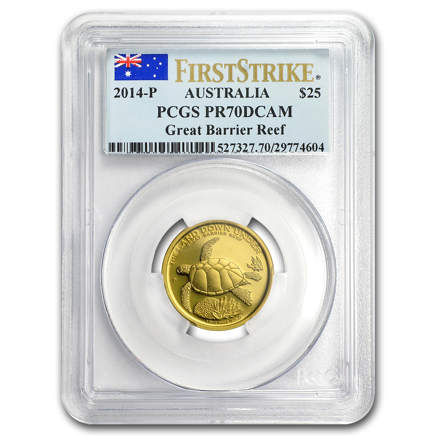 2014 1/4 oz Proof Gold Great Barrier Reef PR-70 PCGS (FS)