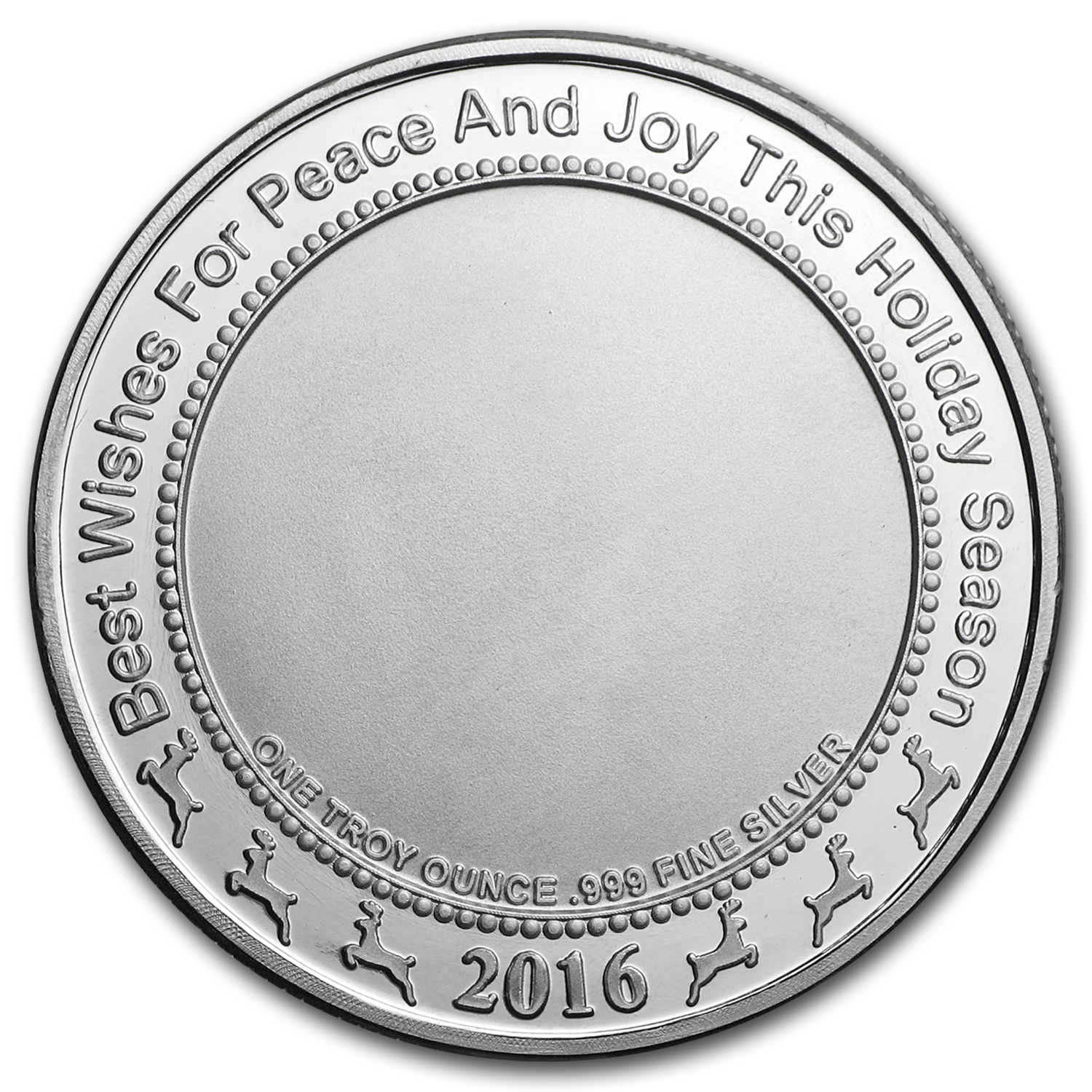 1 oz Silver Round - Holiday Angel (w/Red Pouch & Capsule)
