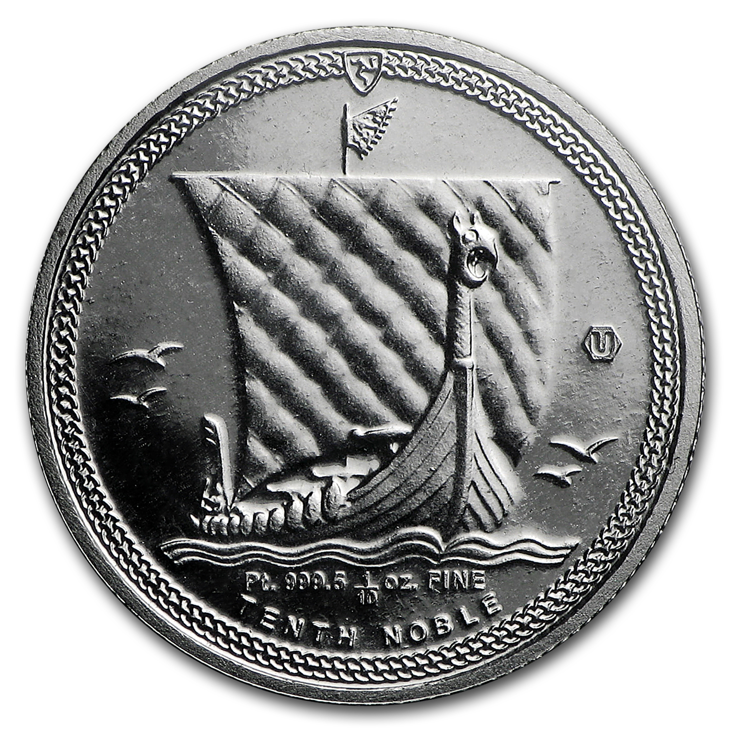 2016 Isle of Man 1/10 oz Platinum Noble BU