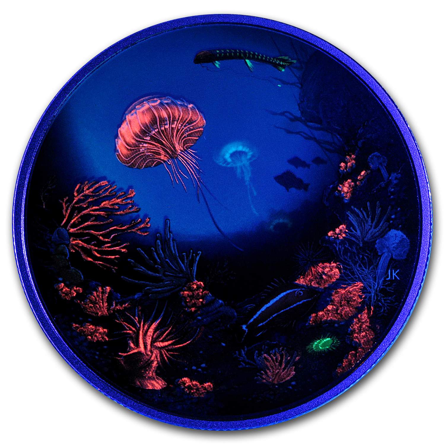 2016 Canada 2 oz Proof Silver $30 Illuminated Underwater Reef