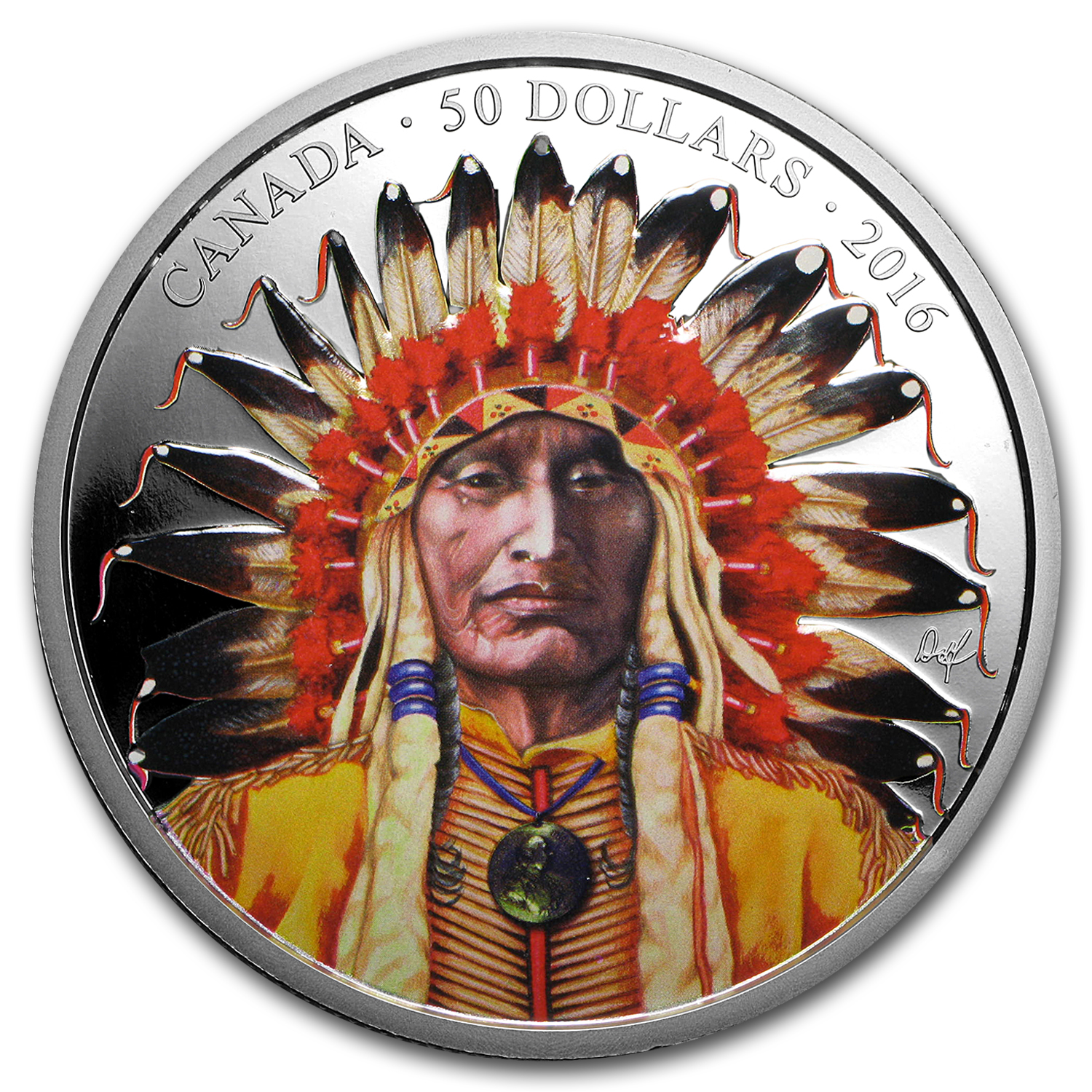 2016 Canada 5 oz Proof Silver $50 Portrait of a Chief