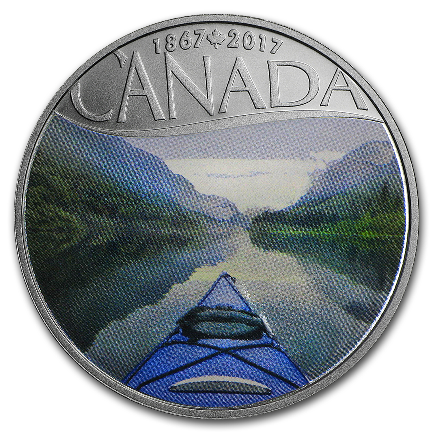 2017 Canada 1/2 oz Silver $10 150th Anniv: Kayaking on the River