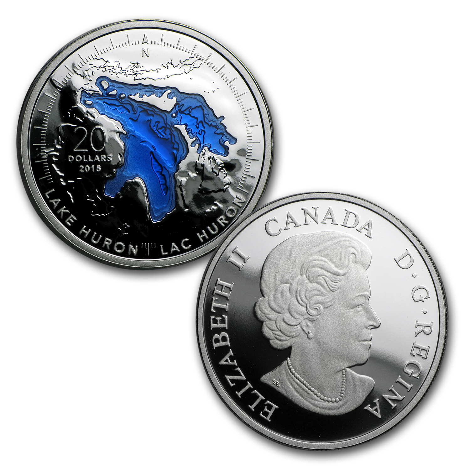 Canada 5-Coin 1 oz Silver $20 The Great Lakes Proof Set