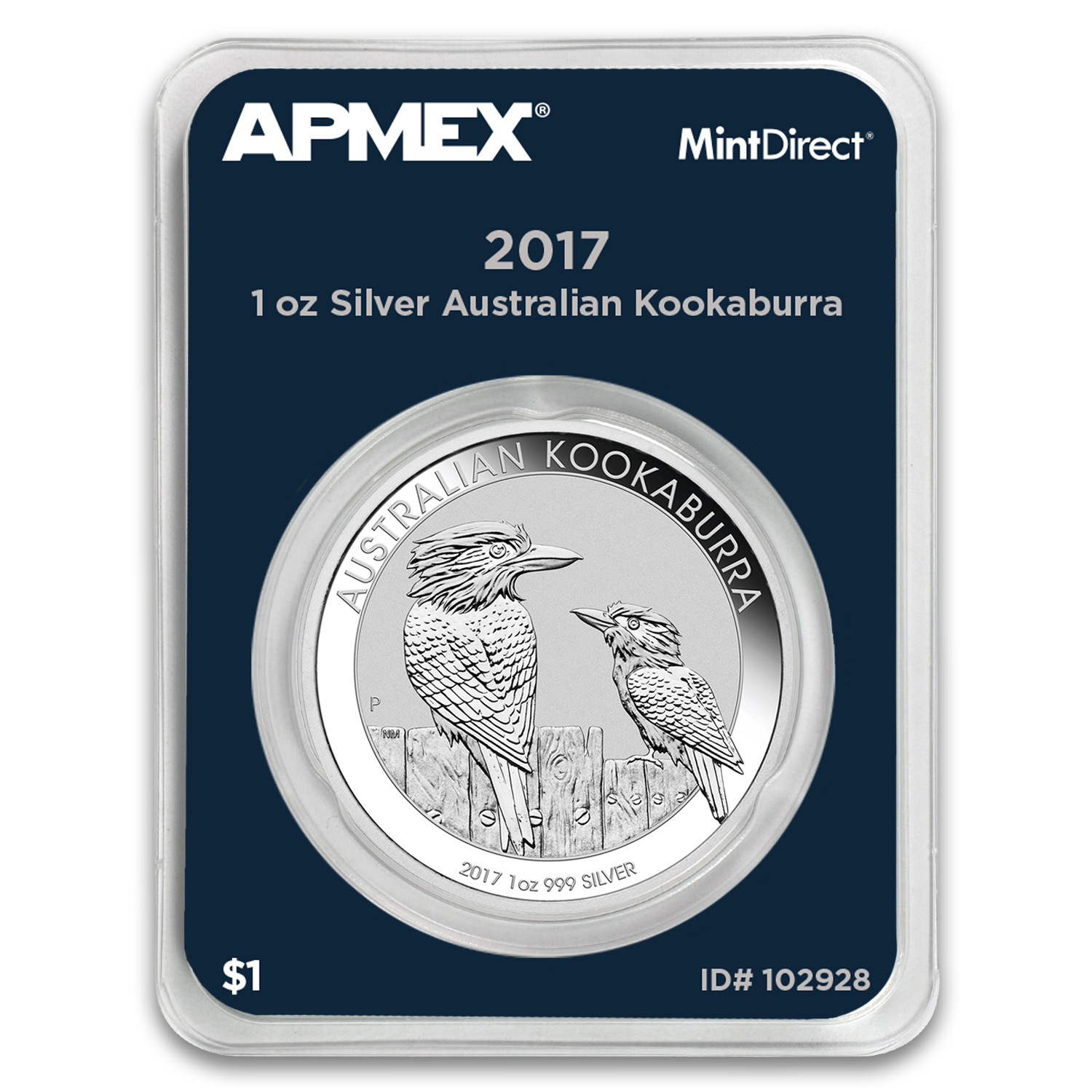 2017 Australia 1 oz Silver Kookaburra (MintDirect® Single)