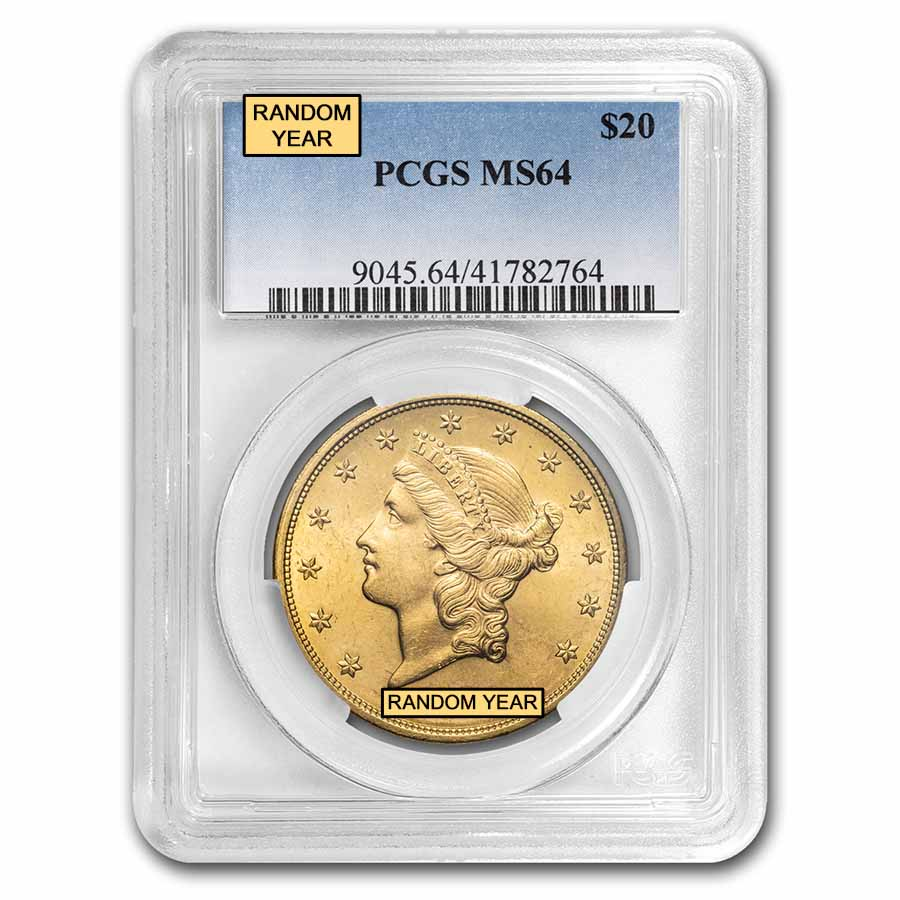 $20 Liberty Gold Double Eagle MS-64 PCGS (Random)