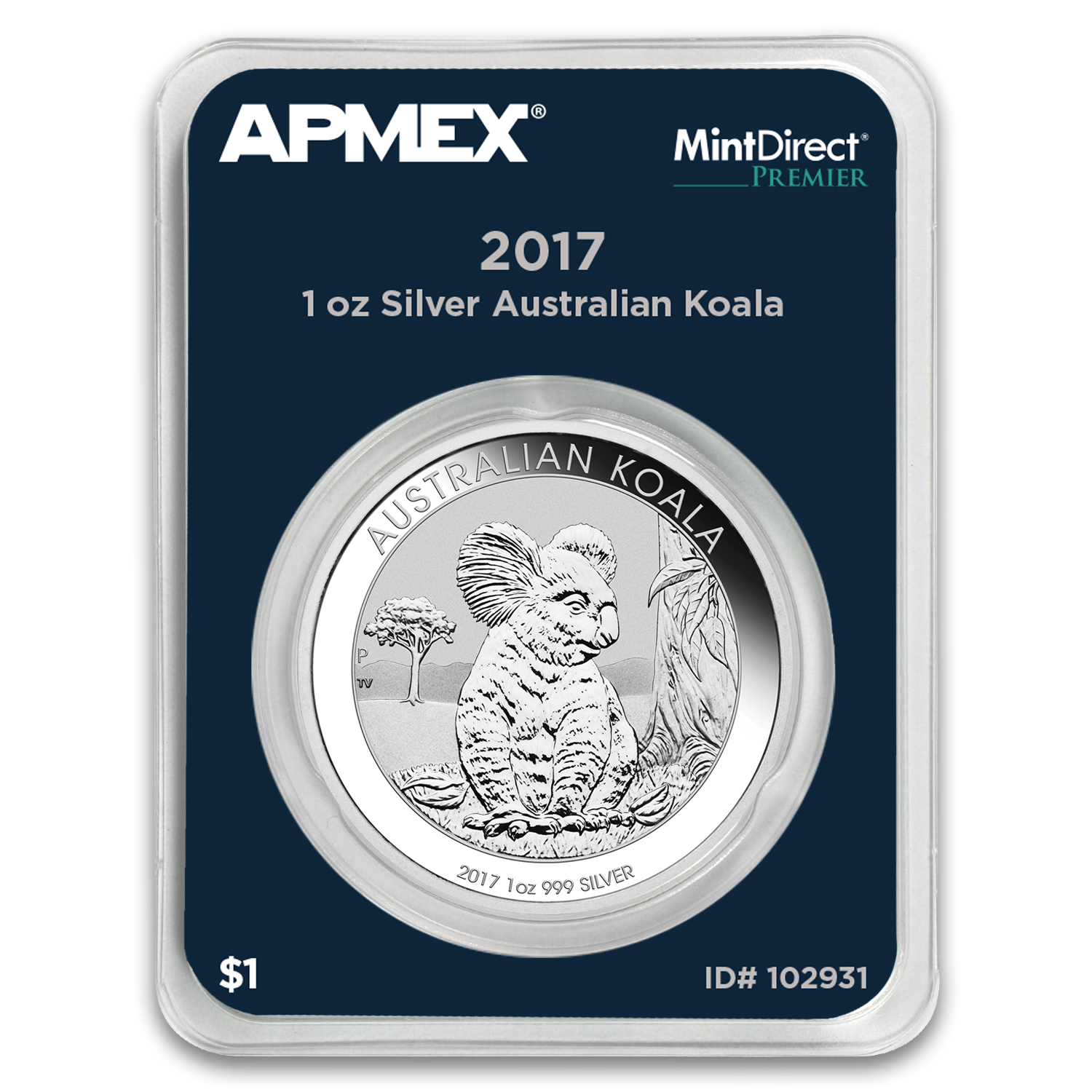 2017 Australia 1 oz Silver Koala BU (MintDirect® Premier Single)