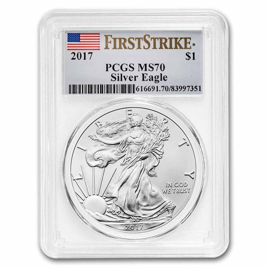 2017 Silver American Eagle MS-70 PCGS (First Strike)