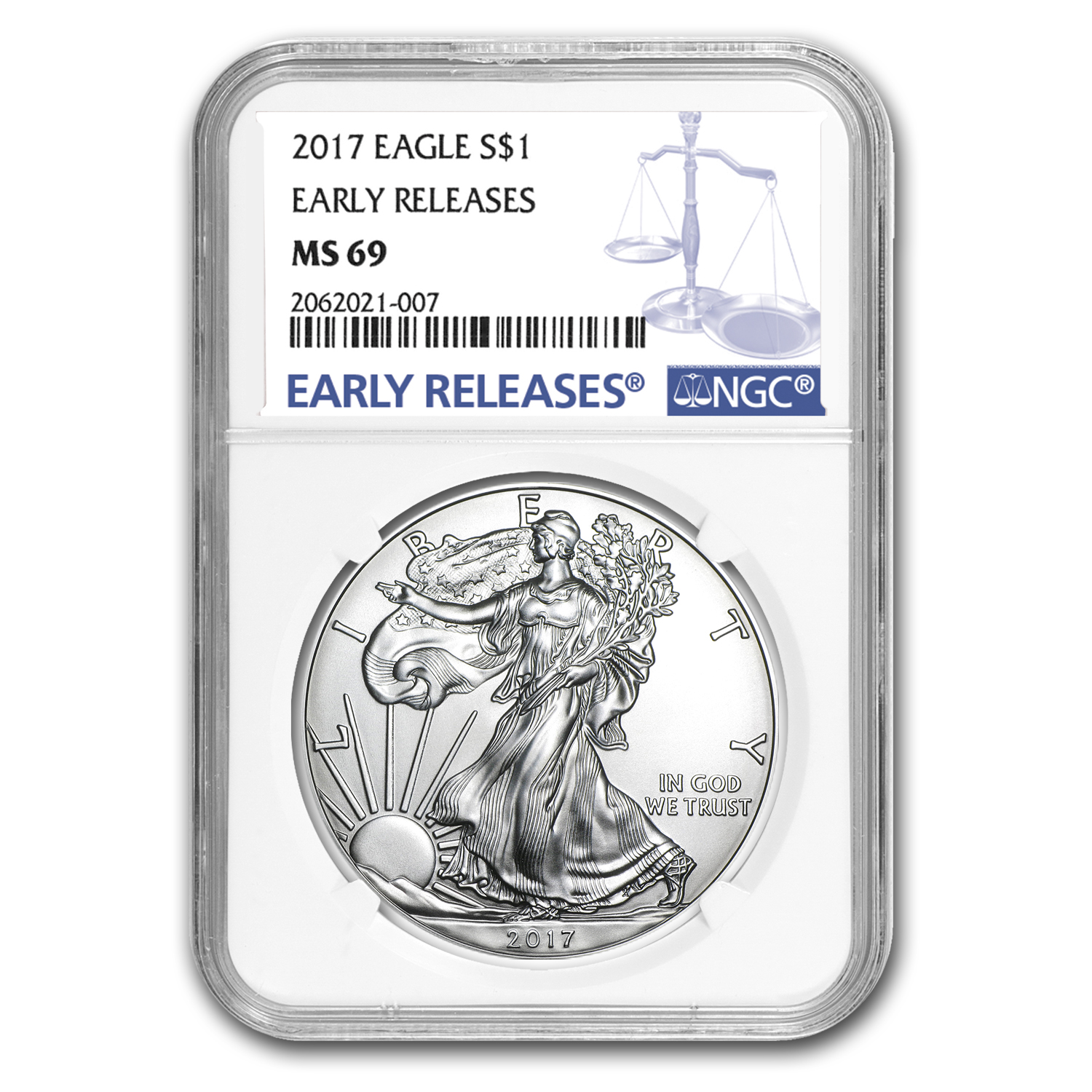 2017 Silver American Eagle MS-69 NGC (Early Releases)