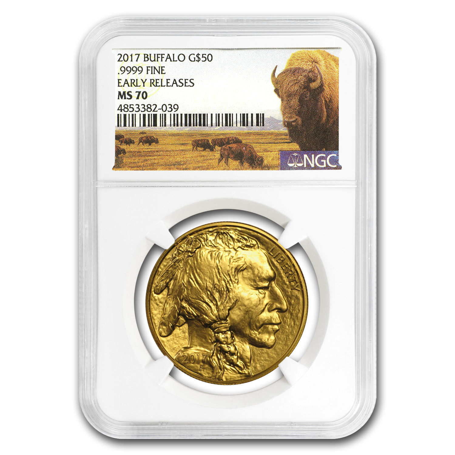 2017 1 oz Gold Buffalo MS-70 NGC (Early Releases)