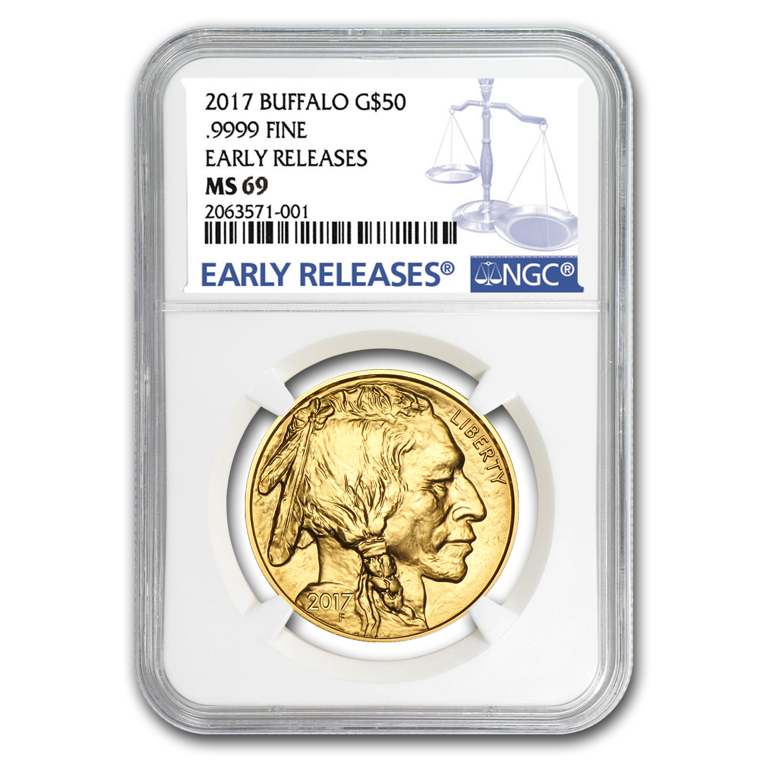2017 1 oz Gold Buffalo MS-69 NGC (Early Releases)