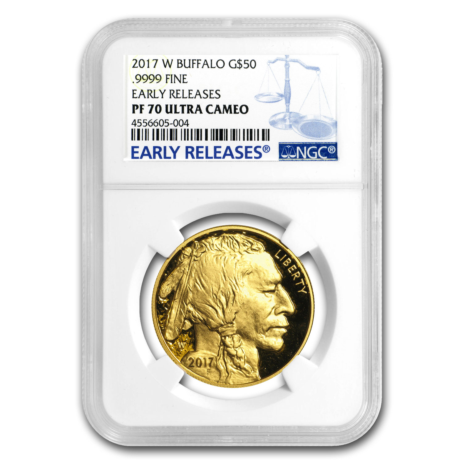 2017-W 1 oz Proof Gold Buffalo PF-70 NGC (ER)