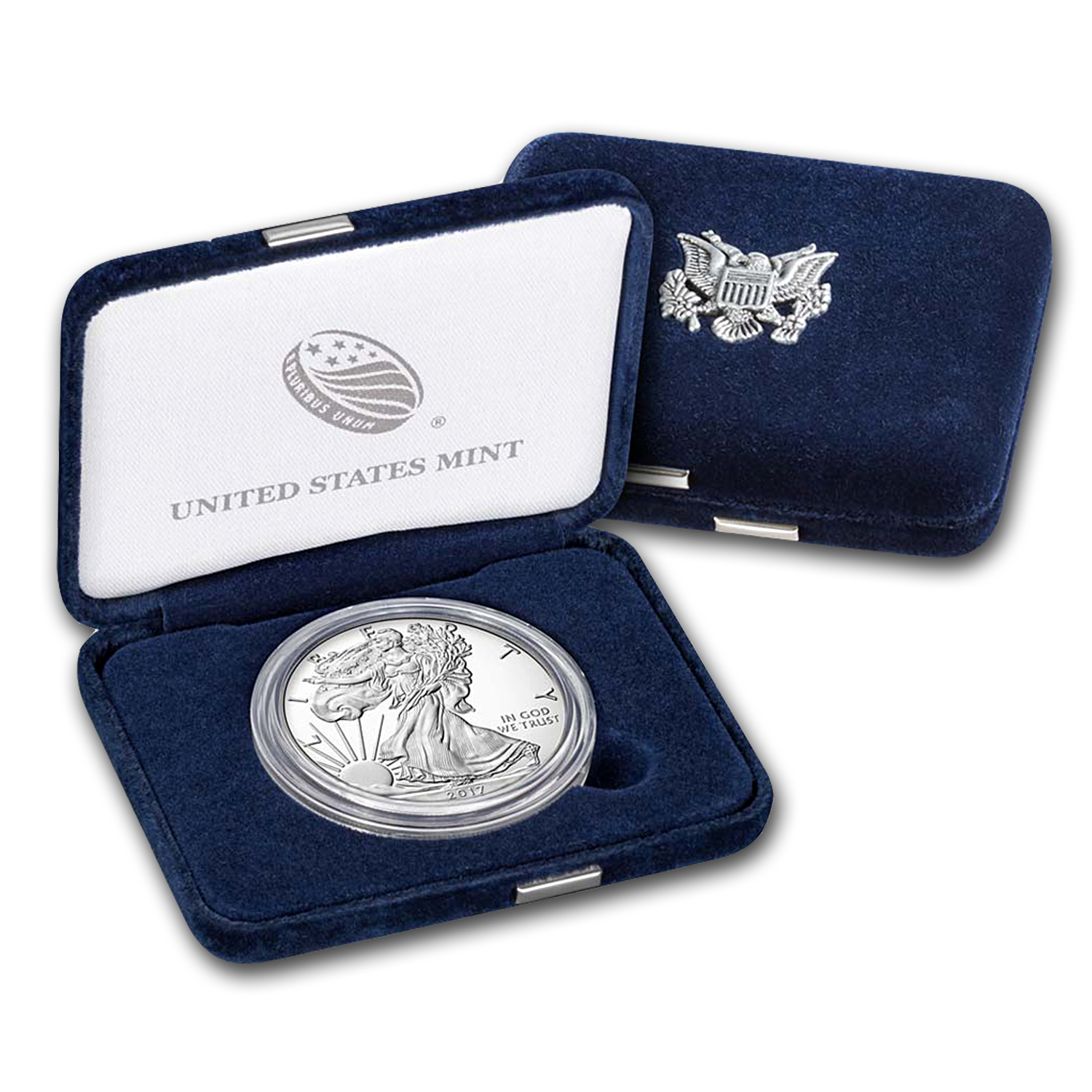 2017-W 1 oz Proof Silver American Eagle (w/Box & COA)