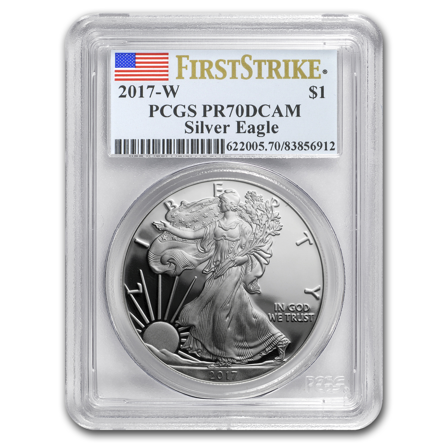 2017-W Proof Silver American Eagle PR-70 PCGS (First Strike)