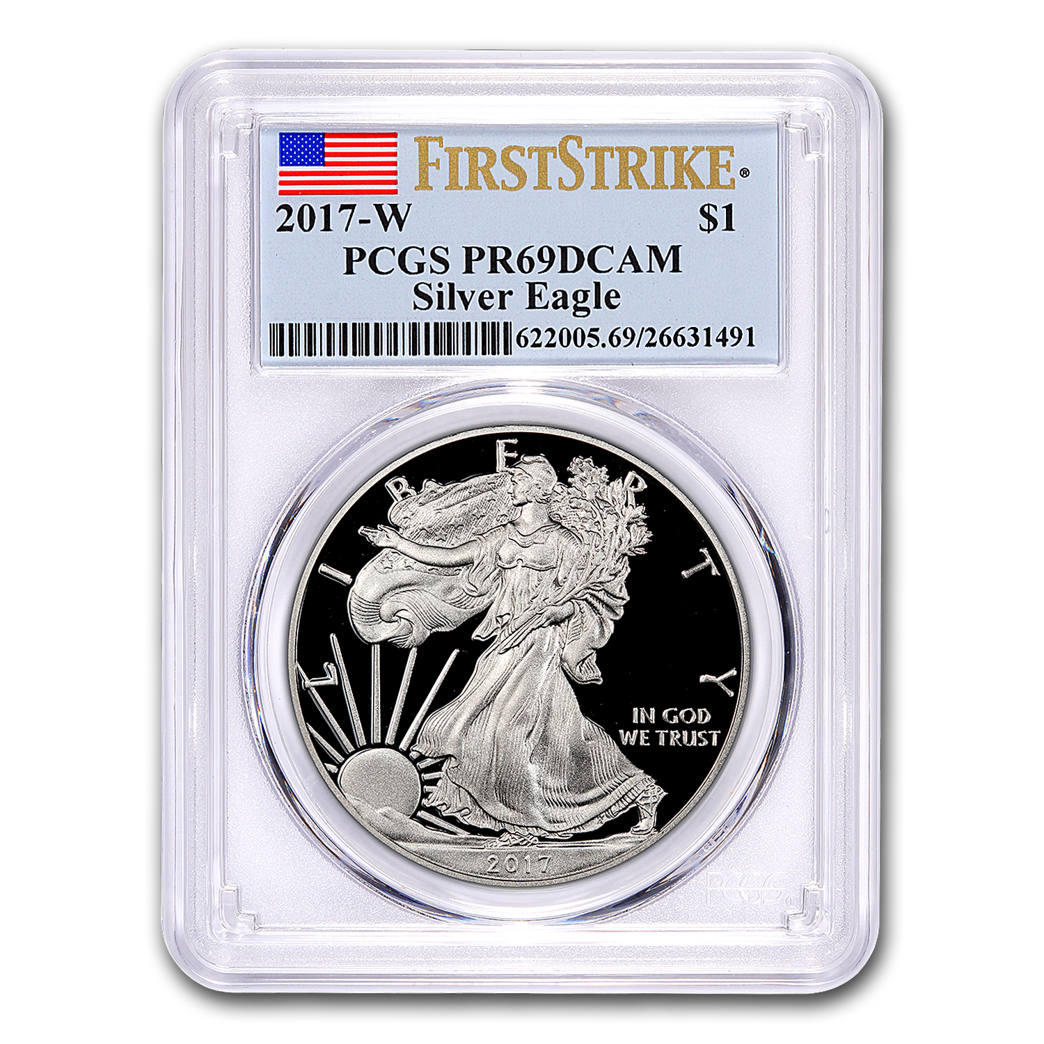 2017-W Proof Silver American Eagle PR-69 PCGS (First Strike)