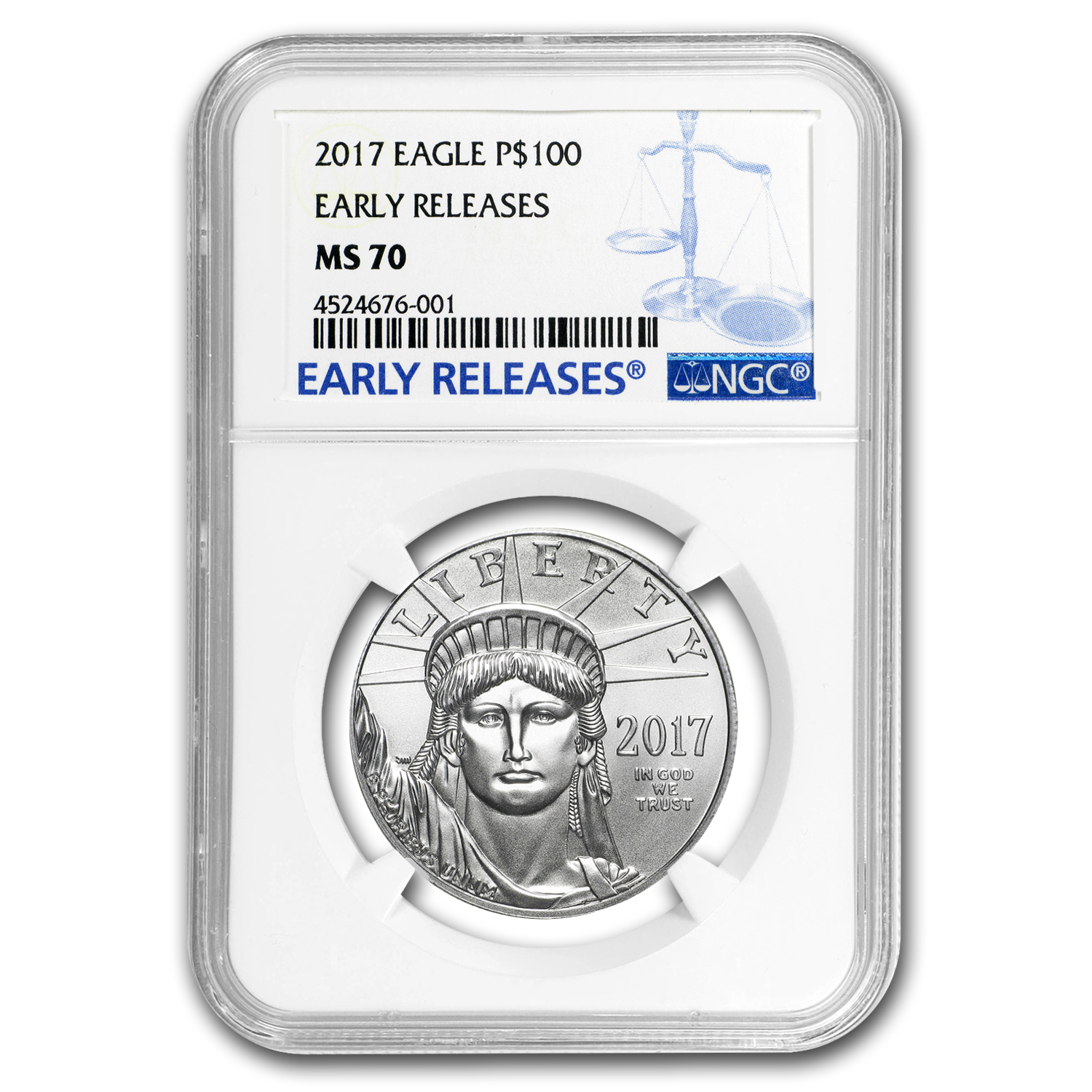 2017 1 oz Platinum American Eagle MS-70 NGC (Early Releases)