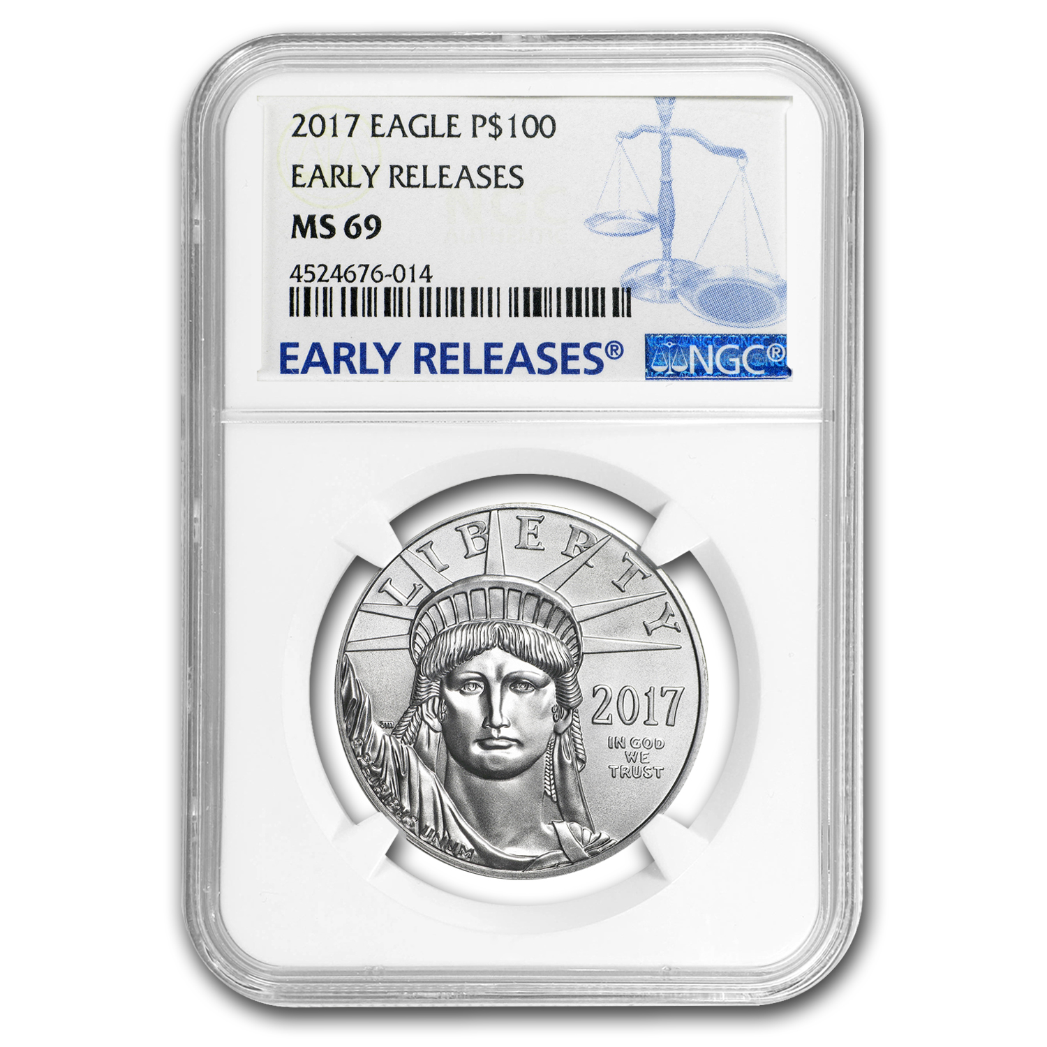 2017 1 oz Platinum American Eagle MS-69 NGC (Early Releases)