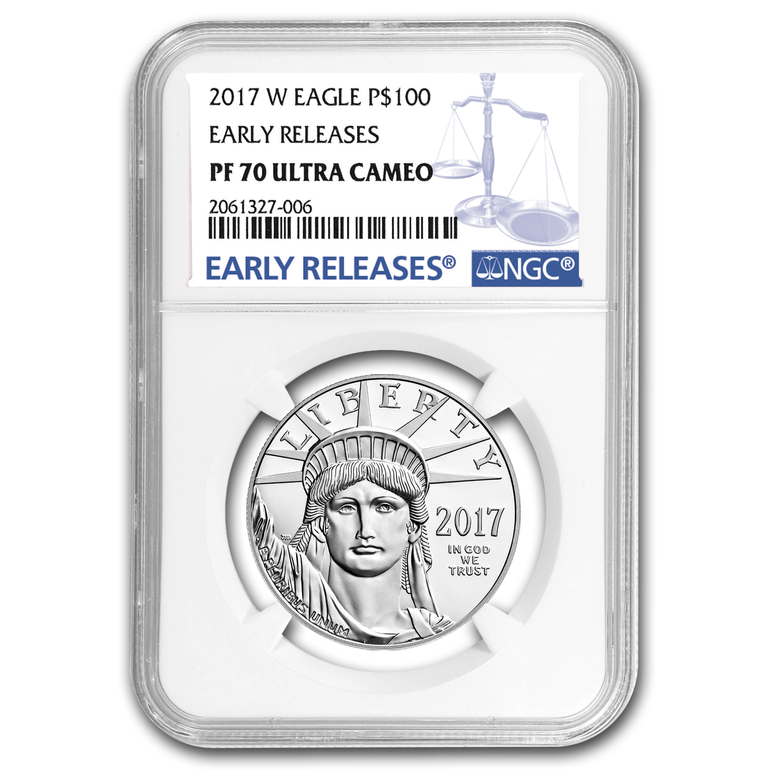 2017-W 1 oz Proof Platinum American Eagle PF-70 NGC (ER)