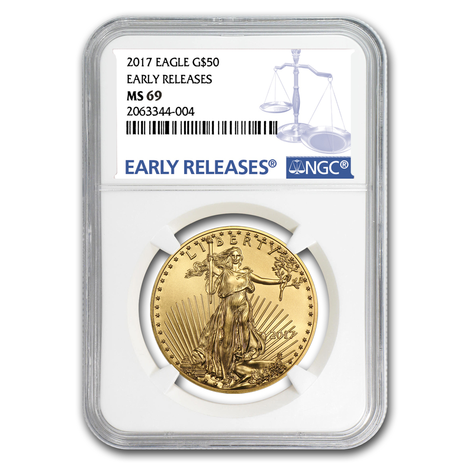 2017 4-Coin Gold American Eagle Set MS-69 NGC (Early Releases)