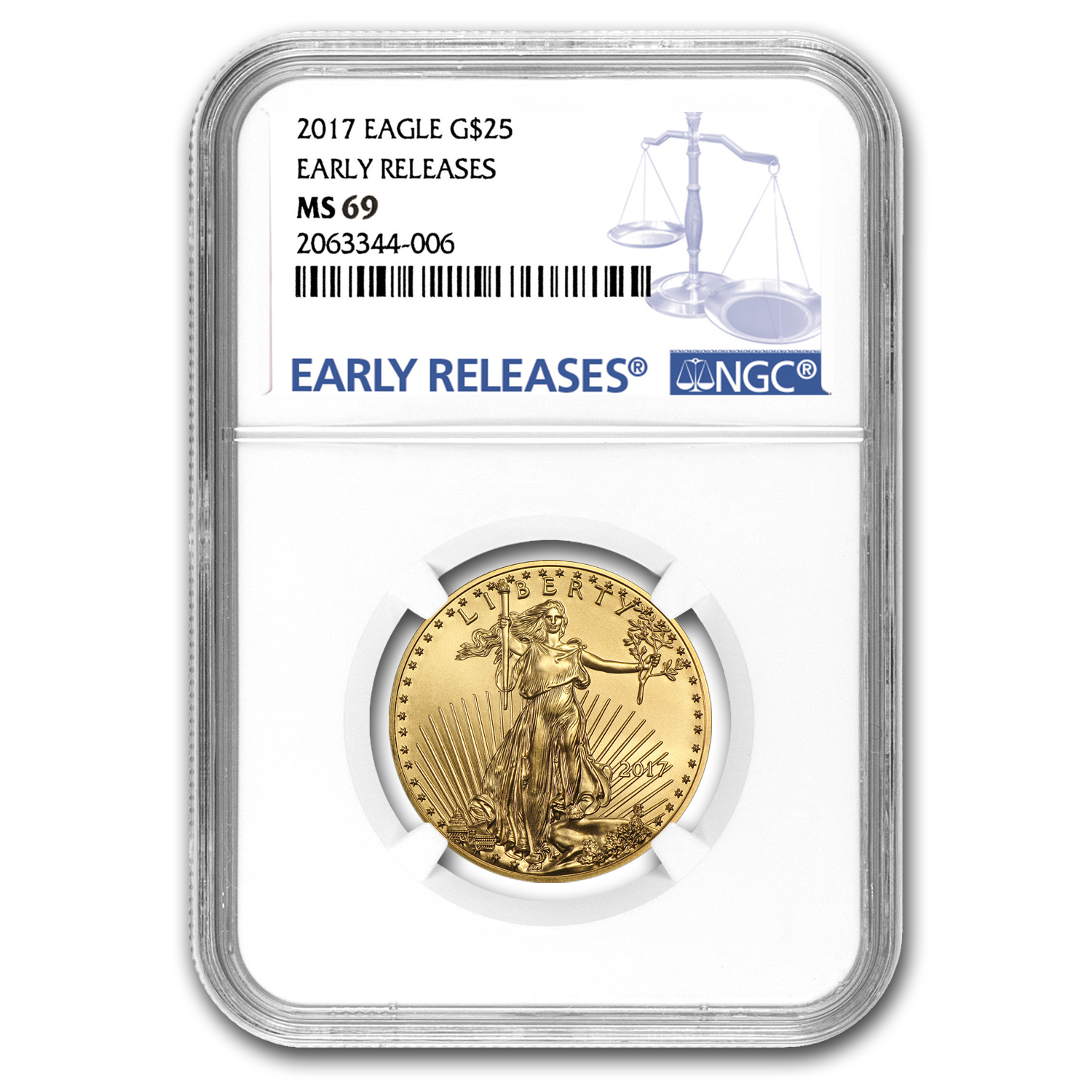 2017 1/2 oz Gold American Eagle MS-69 NGC (Early Releases)