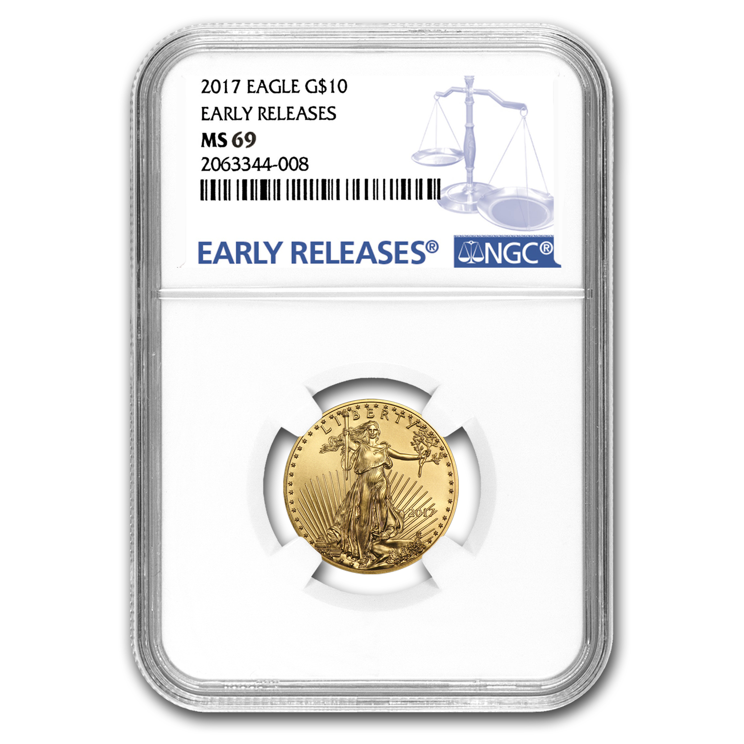 2017 1/4 oz Gold American Eagle MS-69 NGC (Early Releases)