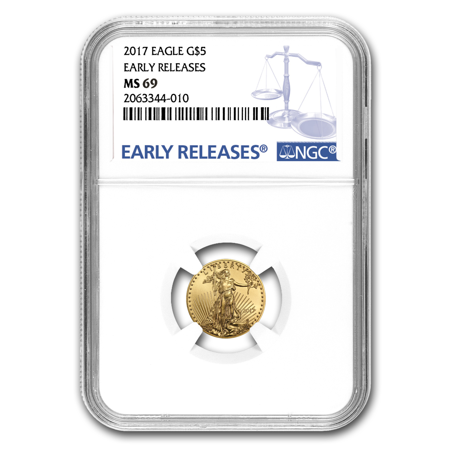 2017 1/10 oz Gold American Eagle MS-69 NGC (Early Releases)