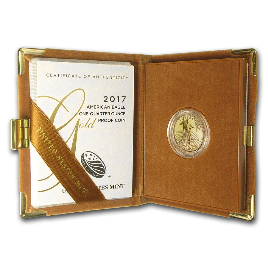 2017-W 1/4 oz Proof Gold American Eagle (w/Box & COA)