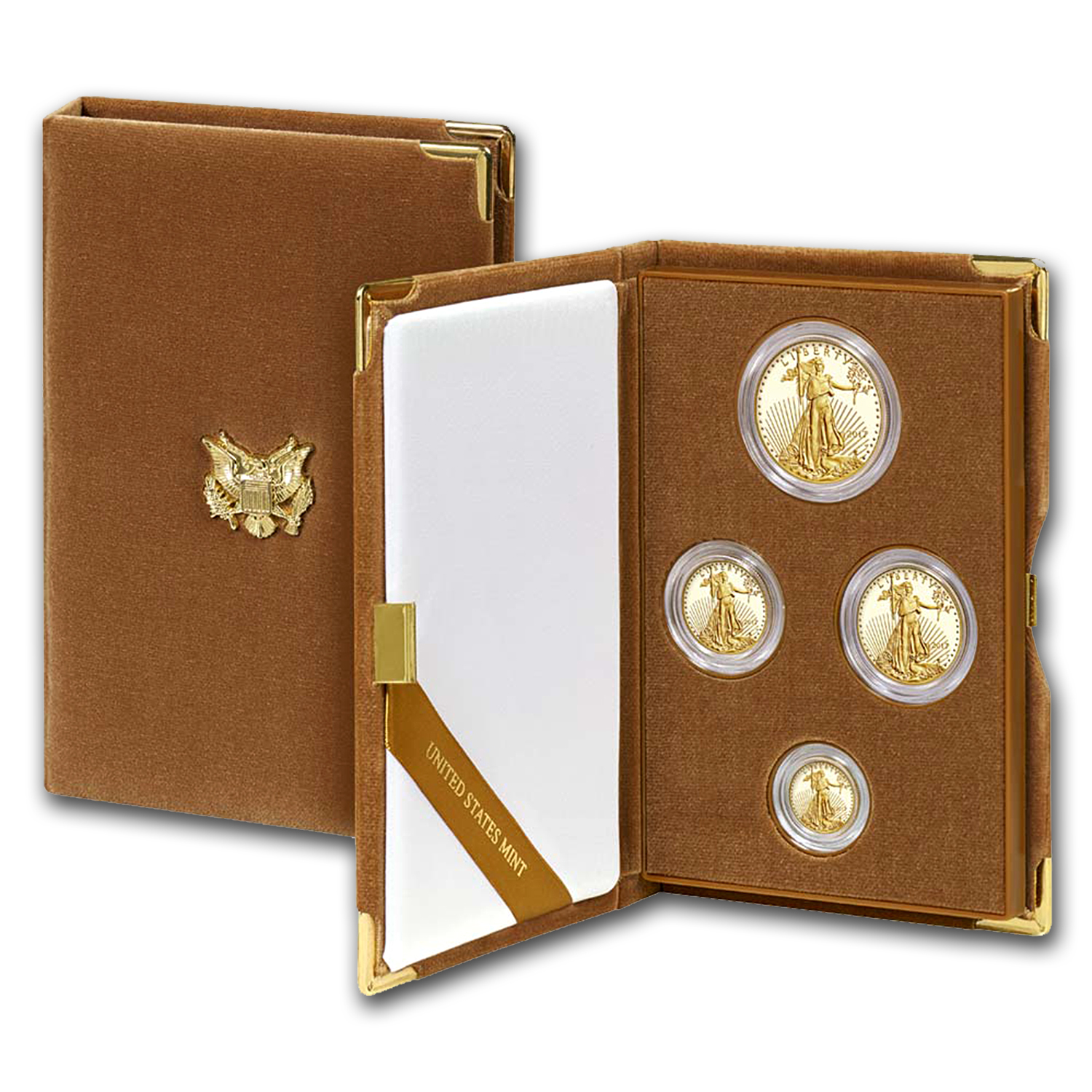 2017-W 4-Coin Proof Gold American Eagle Set (w/Box & COA)