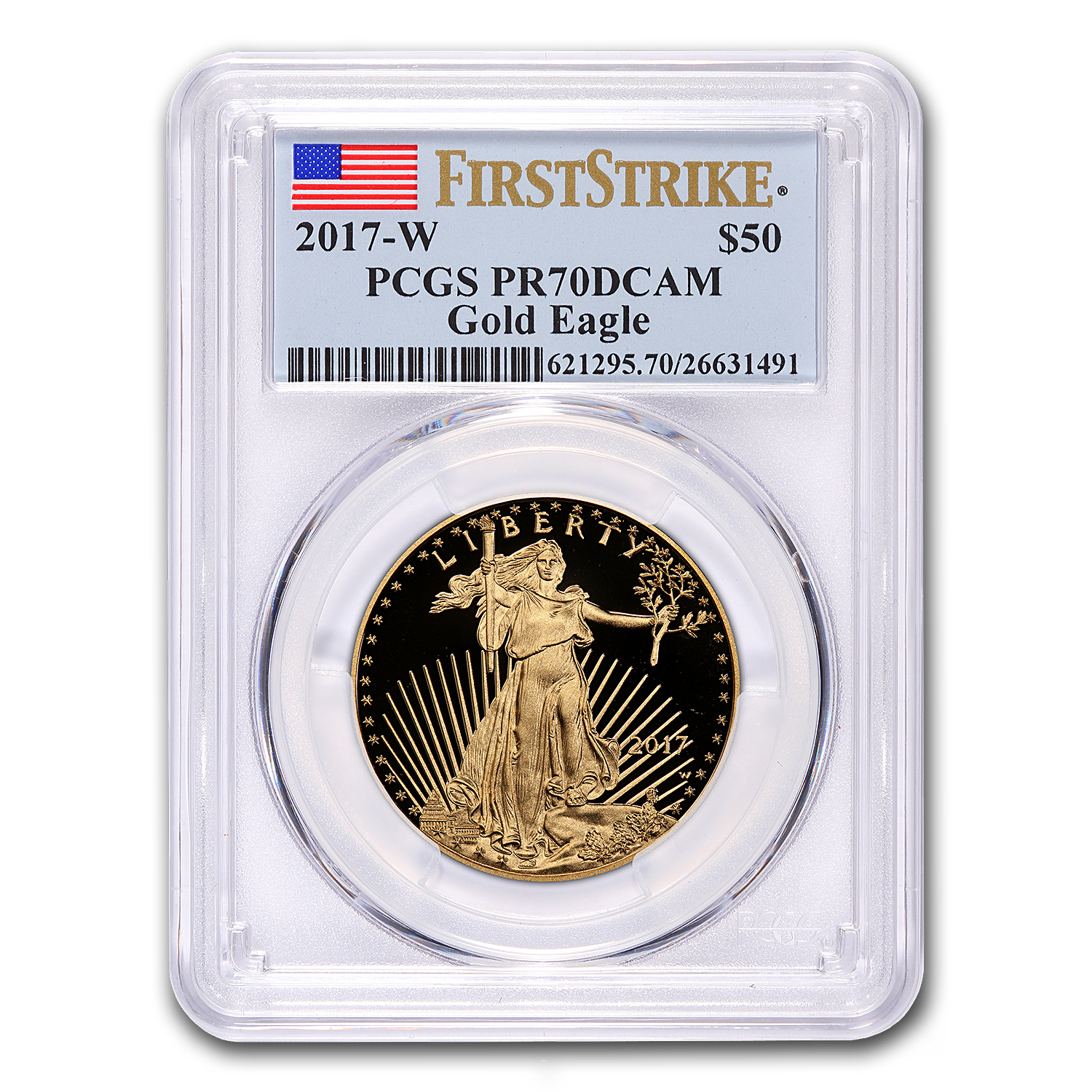 2017-W 4-Coin Proof Gold American Eagle Set PR-70 PCGS (FS)
