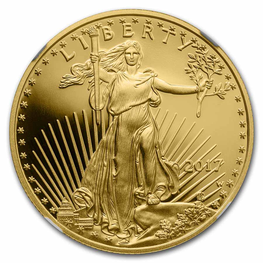 2017-W 1/2 oz Proof Gold American Eagle PF-70 NGC (ER)