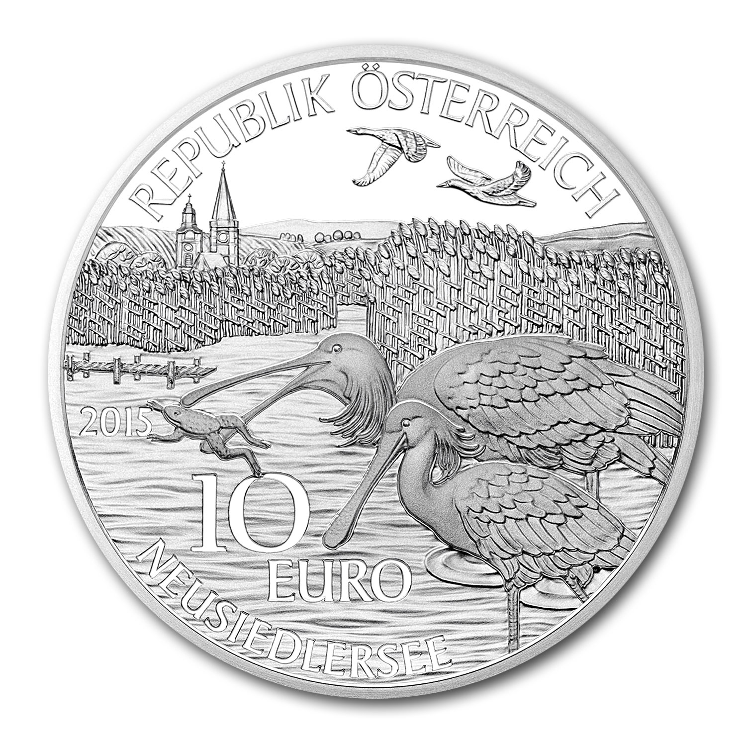 2015 Austria Proof Silver €10 Piece by Piece (Burgenland)
